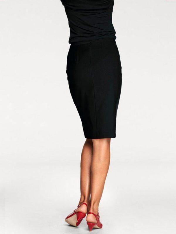 Allie knælang nederdel, Sort fås hos Dahl Copenhagen
