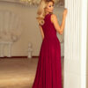166 3 MAXI chiffon dress burgundy color 1