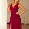 166 3 MAXI chiffon dress burgundy color 2