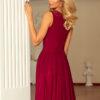 166 3 MAXI chiffon dress burgundy color 3