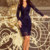 170 7 Lace dress with neckline navy blue 2