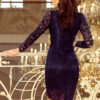 170 7 Lace dress with neckline navy blue 3