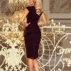 192 3 Elegant midi dress with frill black 1