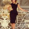 192 3 Elegant midi dress with frill black 2