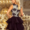 200 3 CHARLOTTE Exclusive dress with lace neckline black 3