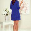 257 1 SUSAN dress with ruffles royal blue 1