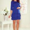 257 1 SUSAN dress with ruffles royal blue 2