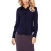 Navy BLUE blouse buttons MM 016 5