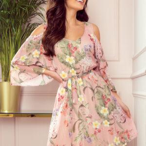 Marina kjole Pastel Pink med blomsterprint fås hos Dahl Copenhagen