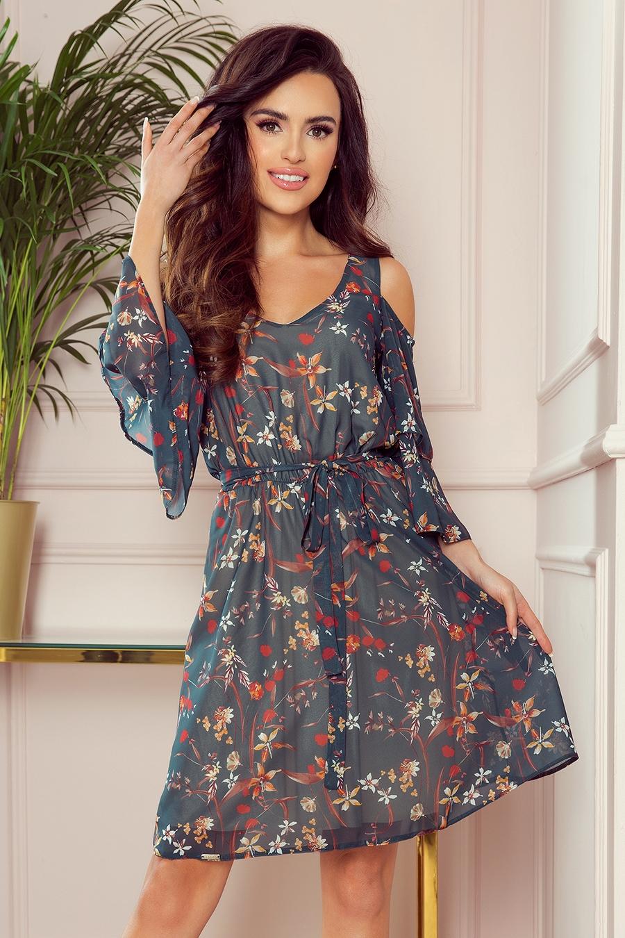 Marina kjole med blomsterprint