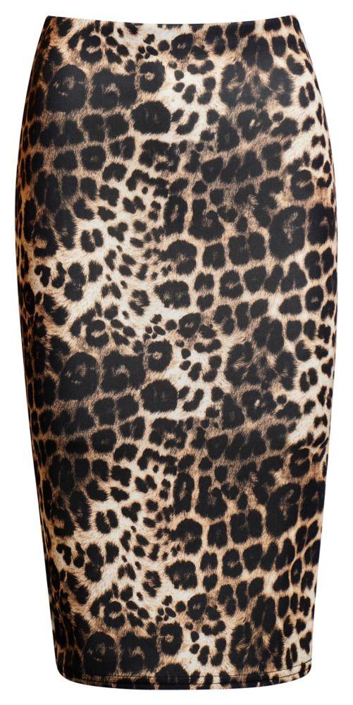 Kaira Leopard Nederdel – Plus Size fås hos Dahl Copenhagen