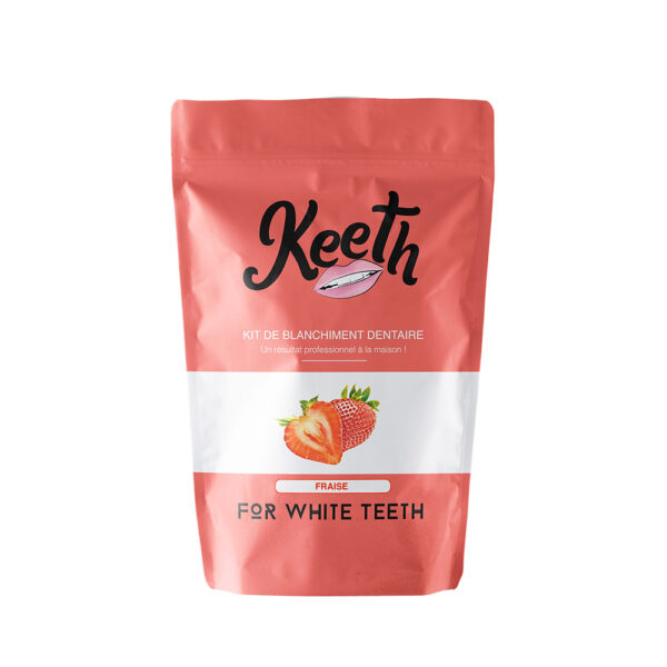 Keeth Tandblegnings-Kit med Jordbærsmag fås hos Dahl Copenhagen