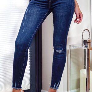 Evora Ripped Skinny Jeans fås hos Dahl Copenhagen