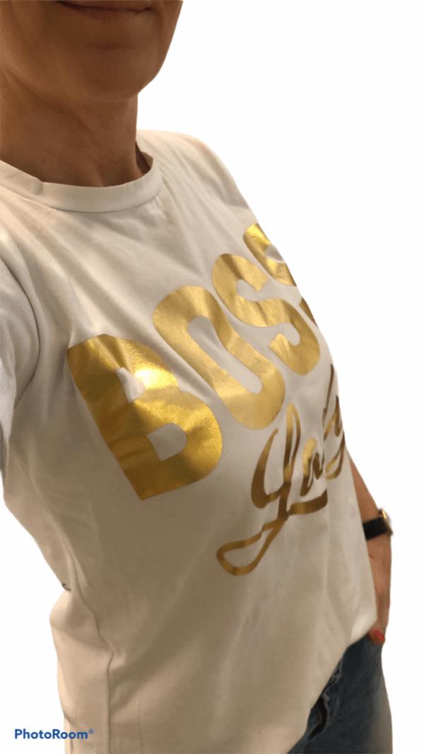 Boss Lady T-shirt Sort fås hos Dahl Copenhagen