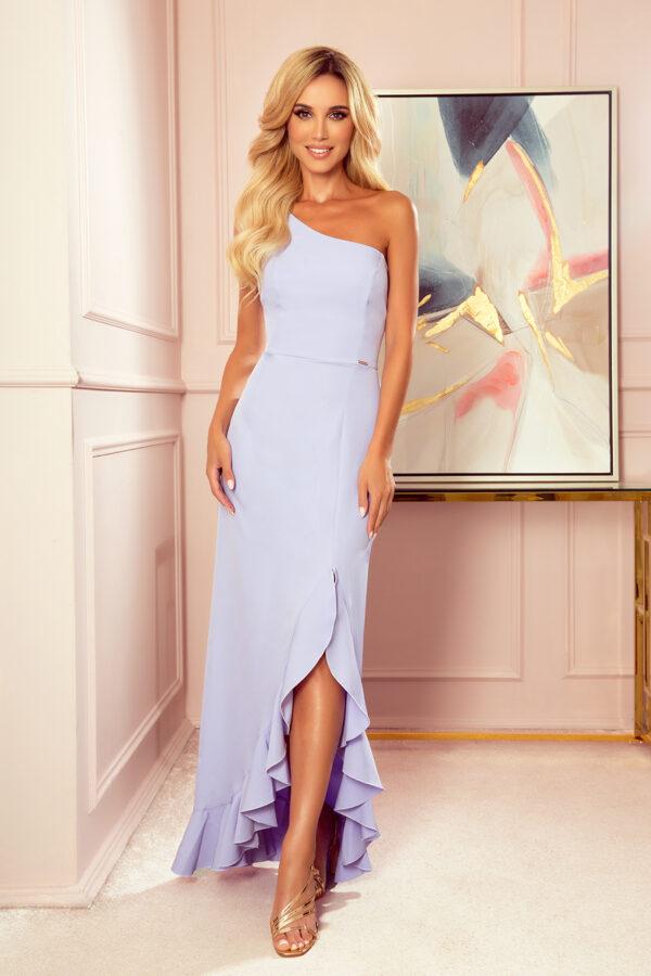 Jordan lang kjole med skulderdetalje fås hos Dahl Copenhagen